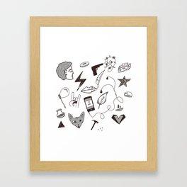 Punk Doodles with Bex Framed Art Print