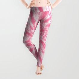 tye dye 10 (pink) Leggings