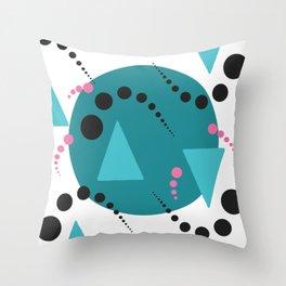 Blue Bubble Throw Pillow
