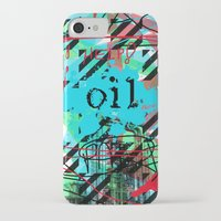 oil iPhone & iPod Cases featuring Oil by Zoé Rikardo