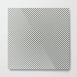 Duffel Bag Polka Dots Metal Print