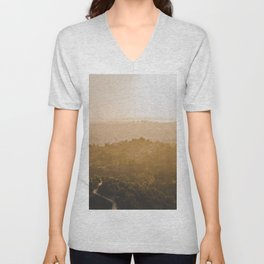 Golden Hour - Los Angeles, California Unisex V-Neck