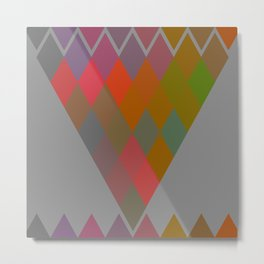 """Colorful Rhombus pattern"" Metal Print"