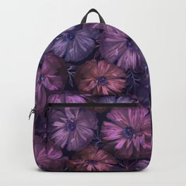 Pink and violet poppies Backpack