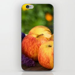 An apple a day keep doctor away iPhone Skin