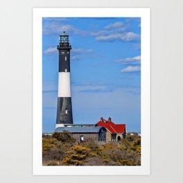 Fire Island Light House Art Print