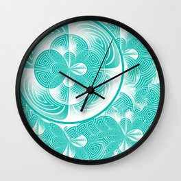 Light turquoise abstract Wall Clock