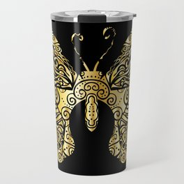 Gold butterfly Travel Mug