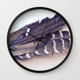 Sacred Smudging, Feather Fan Wall Clock