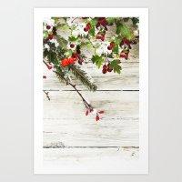 xmas Art Prints featuring Xmas by Ylenia Pizzetti