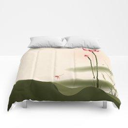 Oriental Lotus 002 Comforters