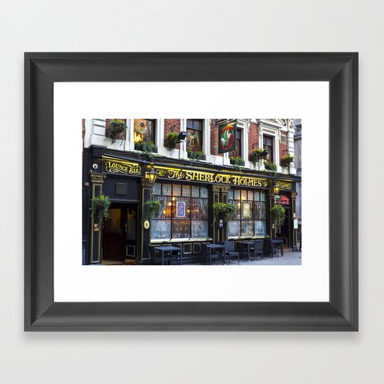 The Sherlock Holmes Pub London Framed Art Print