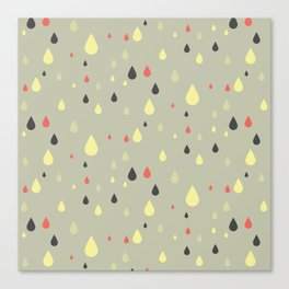 retro raindrops Canvas Print