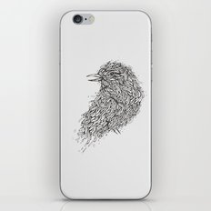 Grey Bird Illustration iPhone & iPod Skin