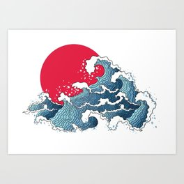The Second Great Wave Art Print