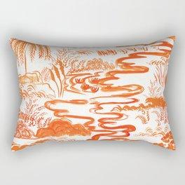 Tangerine Toile  Rectangular Pillow