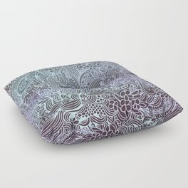 Detailed square, grey'n wedgwood Floor Pillow
