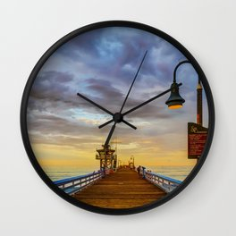 Magical San Clemente Pier Wall Clock