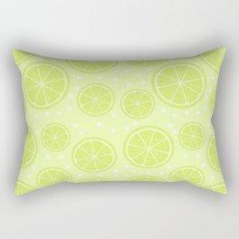 Summer Lime Pattern Rectangular Pillow