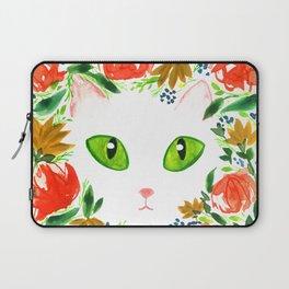 Cat Flor / Art Print / Jungle Cat Laptop Sleeve