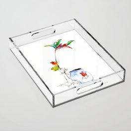 Bird of Paradise 2016 Acrylic Tray