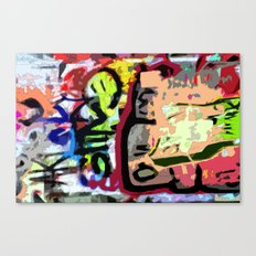 Art in Graffiti Canvas Print