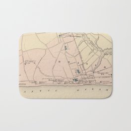 Vintage Map of Long Branch NJ (1872) Bath Mat