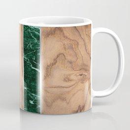 Wood Grain Stripes - Green Granite #901 Coffee Mug