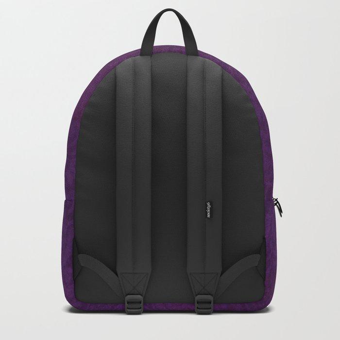 Ganesha hindu god watercolor gold purple art Backpack