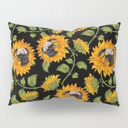 Pug Sunflowers Pillow Sham