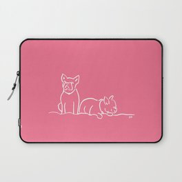 City Dogs: Frenchies {Berry Pink} Laptop Sleeve