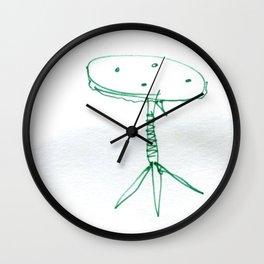 Green Chair Wall Clock
