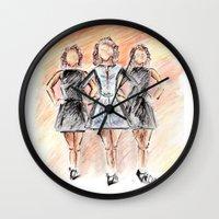 irish Wall Clocks featuring Irish Dancers by Tina Mooney