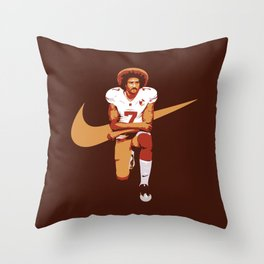 Colin Kaepernick - Kaep Doing It Throw Pillow