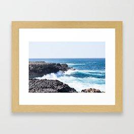 Crashing Surf Framed Art Print
