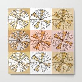 Macrame Circles Metal Print