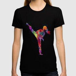 Karete Girl Colorful Watercolor Art T-shirt