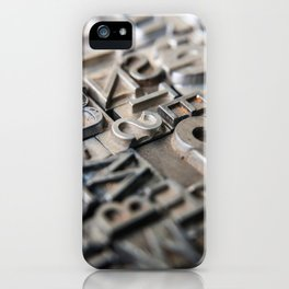 Old Metal Letters iPhone Case