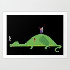 Knight in Shining Tin Foil Art Print
