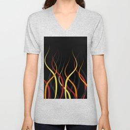 Burning Unisex V-Neck