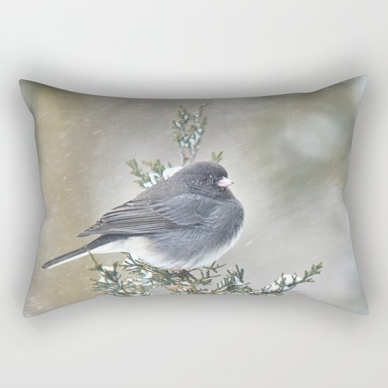 Tip Top Junco Rectangular Pillow