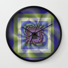 Blue Green Swirl Wall Clock
