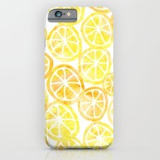 Yellow lemon in watercolor Slim Case iPhone 6s