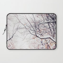 snowy trees in Montreal Laptop Sleeve