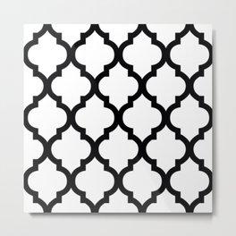Moroccan B&W III Metal Print