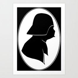Dark Side Silhouette  Art Print