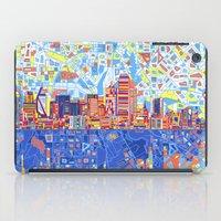 dallas iPad Cases featuring dallas city skyline by Bekim ART