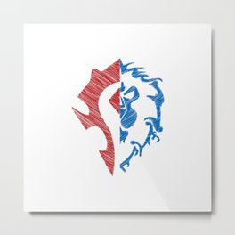 Horde vs. Alliance Metal Print