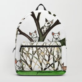 Bull Terriers Whimsical Dogs in Tree Backpack