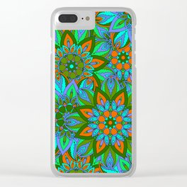 Boho Floral Pattern Clear iPhone Case